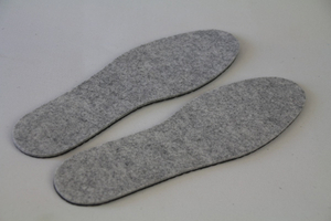 Custom Warm Insole Felt Insole with Latex
