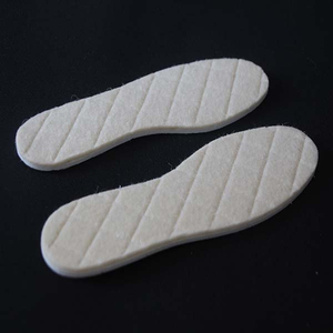 Custom Grid Warm Insole Wool Aluminum Foil Insole for Winter